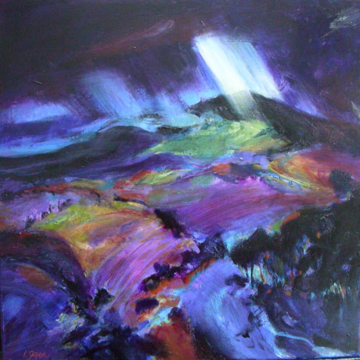 Tuscan storm - Oil on canvas 61 x 61 cms