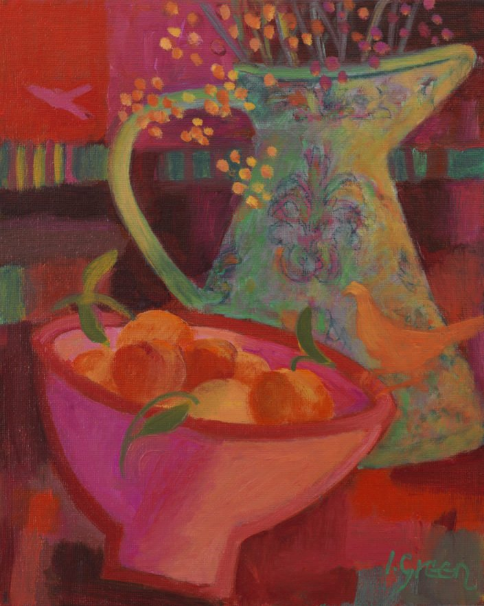 Autumn table - Oil on canvas 25 x 20 cms