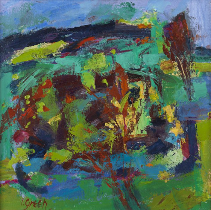 At Appin, Spring - Oil on paper 18 x 18cms