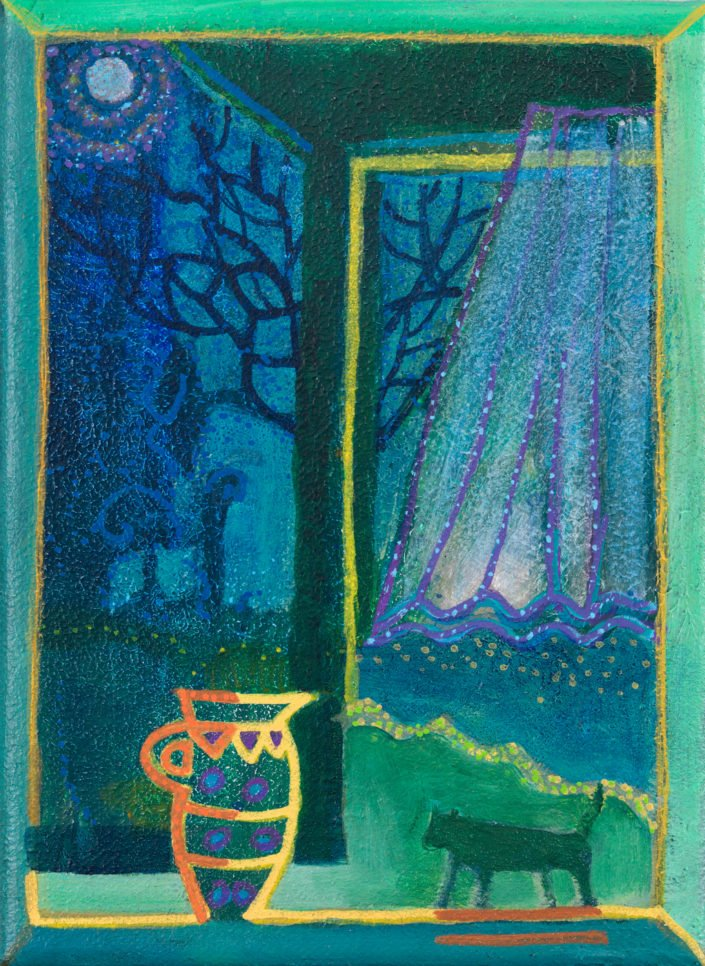 Night stalker - Acrylic on canvas 20 x 15cms