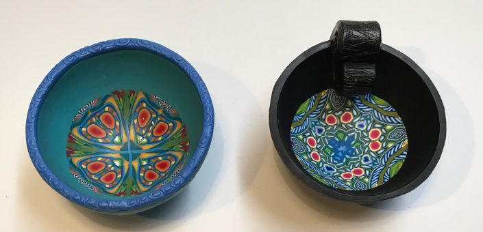 Kaleiedoscope bowls 7- 10 cms diameter 4 cms high